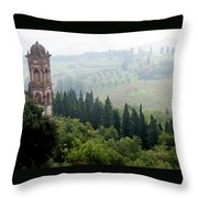 Triano With Pigeons Throw Pillow