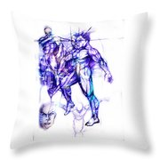 Tribal Dancers Throw Pillow