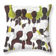 Tribal Girls Throw Pillow