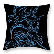 Tribal Line Chinese Dragon 1 Throw Pillow