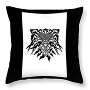 Tribal Lion Alpha Throw Pillow