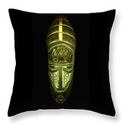 Tribal Mask Throw Pillow by David Dehner