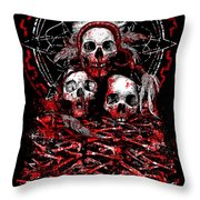 Tribal Massacre  Throw Pillow