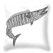 Tribal Ono Throw Pillow by Carol Lynne