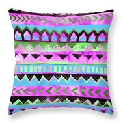 Tribal Pattern 01 Throw Pillow