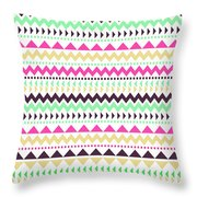 Tribal Pattern 02 Throw Pillow