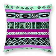 Tribal Pattern 06 Throw Pillow