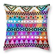 Tribal Pattern 08 Throw Pillow