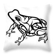 Tribal Ribbet  Throw Pillow