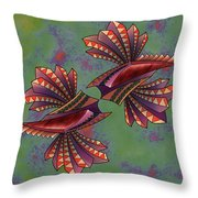 Tribal Sea Creature 1 Throw Pillow