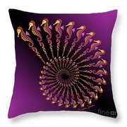 Tribal Seahorse Spiral Shell Throw Pillow