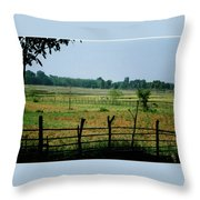 Tribal Village Throw Pillow