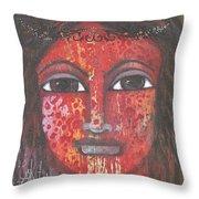 Tribal Woman Throw Pillow