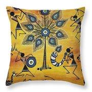 Tribals II Throw Pillow
