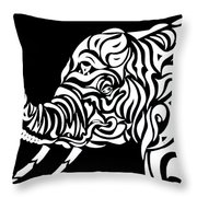 Tribephant Reverse Throw Pillow