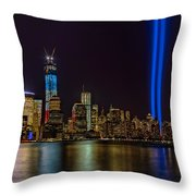 Tribute In Lights Memorial Throw Pillow by Susan Candelario