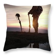 Tribute To A Fallen Comrade World War One Throw Pillow