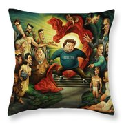 Tribute To Animal House Throw Pillow