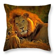 Tribute To Cecil Throw Pillow