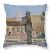 Tribute To Cezanne Throw Pillow