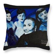 Tribute To Lena Horne Throw Pillow