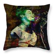 Tribute To Sarah Vaughn Throw Pillow