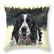 Tribute To Spot. Rip Throw Pillow