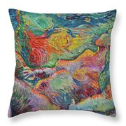Tribute To Van - Bathing Throw Pillow