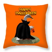 Trick Or Treat For Count Duckula Throw Pillow