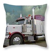Trick Transport Peterbilt Throw Pillow