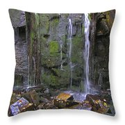 Trickle Wall Throw Pillow