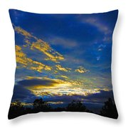 Tricky Sunrise Throw Pillow