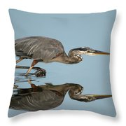 Tricolor Heron Hunting Throw Pillow