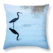 Tricolored Heron Silhouette Throw Pillow