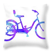 Tricycle Art Throw Pillow