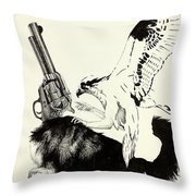 Trigger Finger Throw Pillow