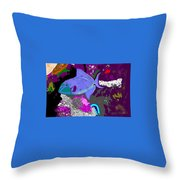 Trigger Fish Throw Pillow
