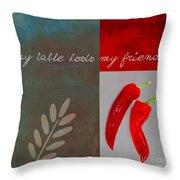 Trilioli Kitchen Decor - Red 153z Throw Pillow