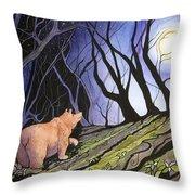 Trillium Moon Throw Pillow