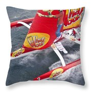Trimaran Throw Pillow