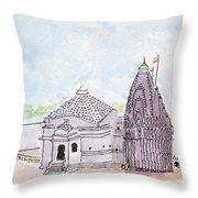 Trimbakeshwar Jyotirlinga Throw Pillow