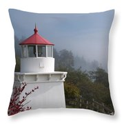 Trinidad Head Lighthouse Throw Pillow