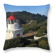 Trinidad Head Memorial Lighthouse, California Lighthouse Throw Pillow