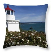 Trinidad Lighthouse California Throw Pillow
