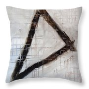 Trinity Channels Abstract Painting Throw Pillow