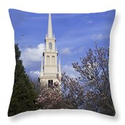 Trinity Church In Spring Throw Pillow