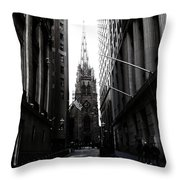 Trinity Church New York City Throw Pillow