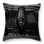 Trinity Church Pipe Organ Throw Pillow