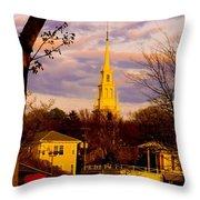 Trinity Church Spring Sunset Throw Pillow