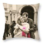 Trinity College Kiss Throw Pillow